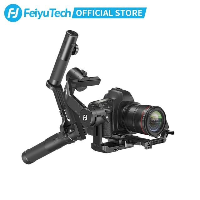 FeiyuTech 3 Axis AK4500 يده Gimbal استقرار عدة ل DSLR كاميرا سوني/باناسونيك/كانون مع البعيد القطب ترايبود اتبع Fcous