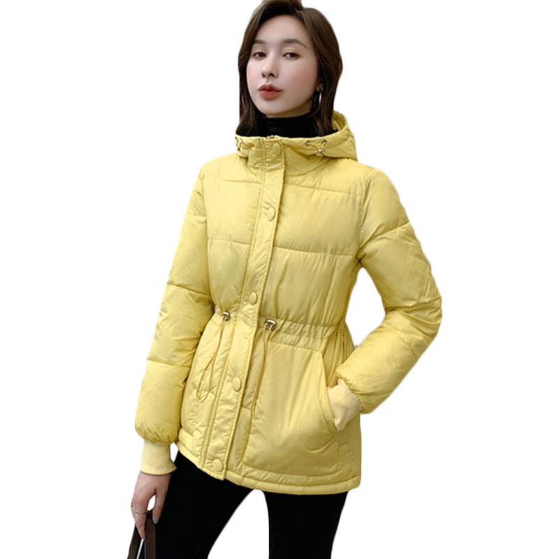 Plus size Women Down cotton Jacket Harajuku Overcoat Jackets Thicken Loose cotton Coat Outwear Women's casual Hooded   parkas   F927