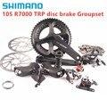 SHIMANO 105 R7000 2X11 speed TRP Disc Brak groupset дорожный велосипед 170 172,5 мм TRP механическое крепление falt или post mount Disc