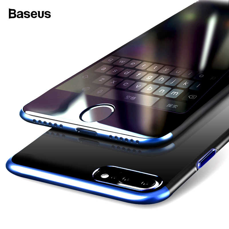 Baseus Luxe Telefoon Case Voor Iphone 8 7 Plus Ultra Dunne Slanke Plating Cover Case Voor Iphone 8 Plus 7 Plus IPhone8 Coque Fundas