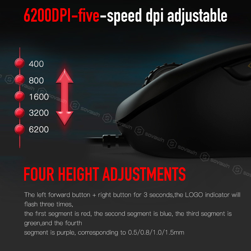 Image 5 - Original Motospeed V100 Professional Wired Optical Gaming Mouse RGB Light Esport Game Computer Mouse USB 6200DPI for PC Laptop-in Mice from Computer & Office