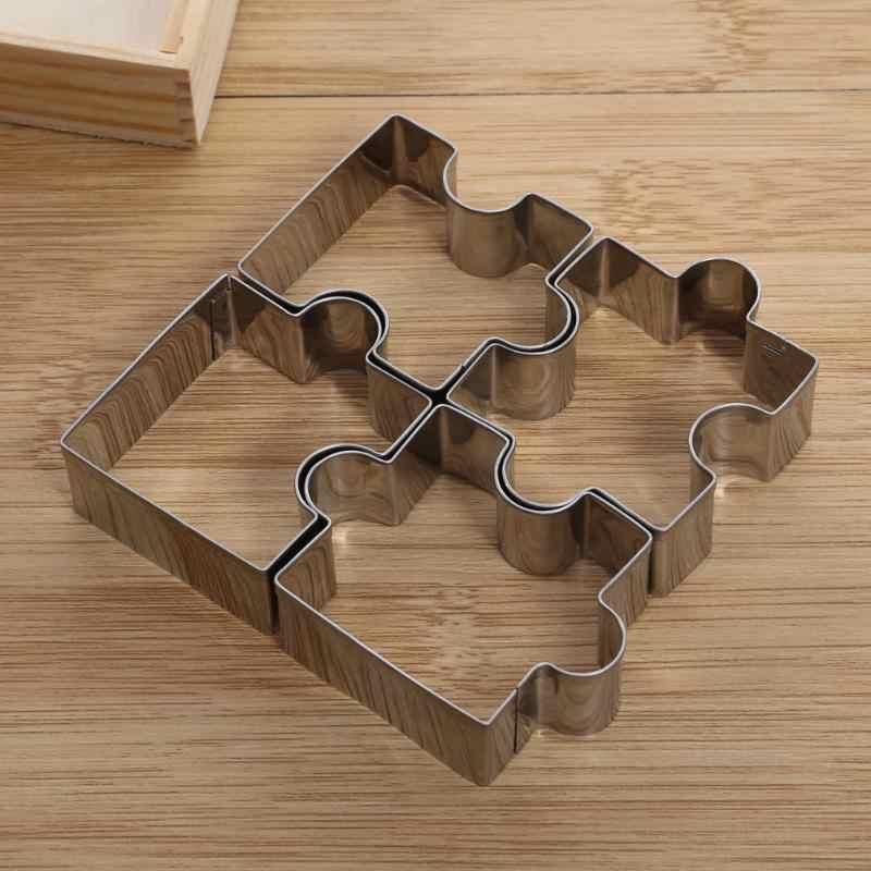 Baru 3 Pcs Stainless Steel Kue Biskuit Cetakan DIY Bunga Bulat Bentuk Cutter Baking Cetakan Kue Cookie Pemotong Dapur alat