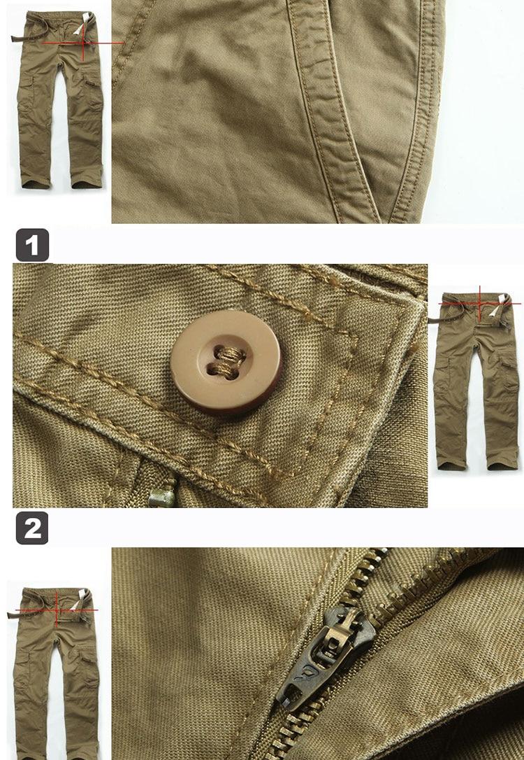 KSTUN New Men's Cargo Pants Casual Overalls 100% Cotton Straight Cut Male City Military Tactical Pants Men Loose Fit Trousers No Belt 23