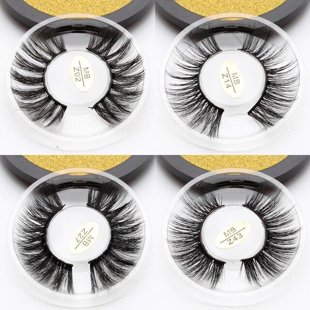 MB Z New Mink Eyelashes 3D 100% Mink Lashes Thick HandMade Full Strip False Lashes Cruelty Free Luxury Makeup Dramatic Eye Lashe