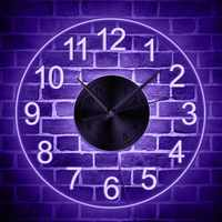 Arabic numerals Acrylic Wall Clock With LED Backlight Bedroom Night Lamp Wall Clock Glow In Dark Multi Colors LED Lighting Decor