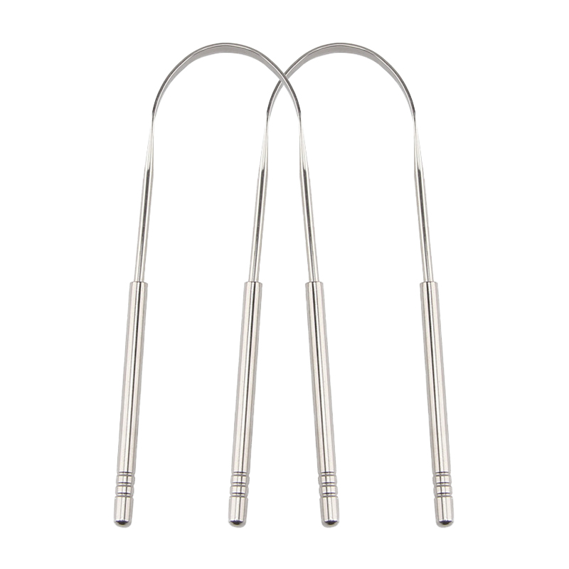 Stainless Steel Tongue Scraper Cleaner Fresh Breath Cleaning Coated Tongue Toothbrush Oral Hygiene Care Tools Accessories