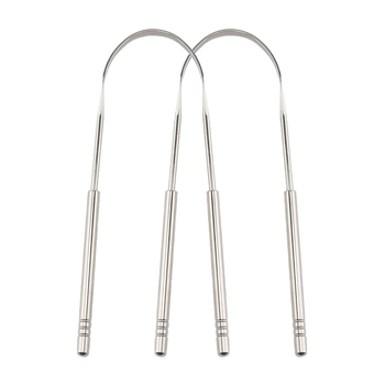 Stainless Steel Tongue Scraper Cleaner Fresh Breath Cleaning Coated Tongue Toothbrush Oral Hygiene Care Tools Accessories 1pc stainless steel tongue scraper cleaner fresh breath cleaning coated tonguetoothbrush dental oral hygiene care tools