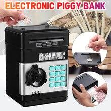 Caja de dinero con contraseña electrónica KIWarm, caja de dinero con bloqueo automático para monedas, caja de dinero con ahorro de dinero, Mini caja fuerte, regalo para niños