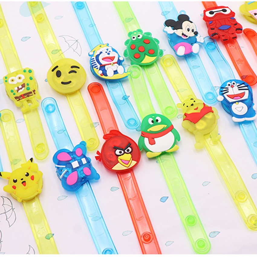 Cartoon Illuminated Wrist Strap Decoration Colorful LED Watch For Childrens Kids Glow Luminous Bracelets Toy Flash Wrist Band