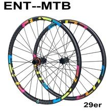 ELITE 29er ruedas de bicicleta de montaña de 30mm de ancho, ruedas de carbono, ruedas de bicicleta de montaña 29 Elite M11, ruedas de carbono del eje