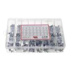 Condensador electrolítico SMD de aluminio, Kit surtido de 24 valores, 1uF-400 uF, 1000 unids/lote