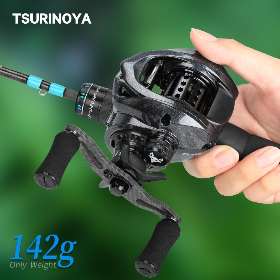TSURINOYA ультра-светильник 142 г карбоновая катушка для рыбалки SPIRIT FOX 50 наживка Утонченная система форель Ajing рок Литая Катушка