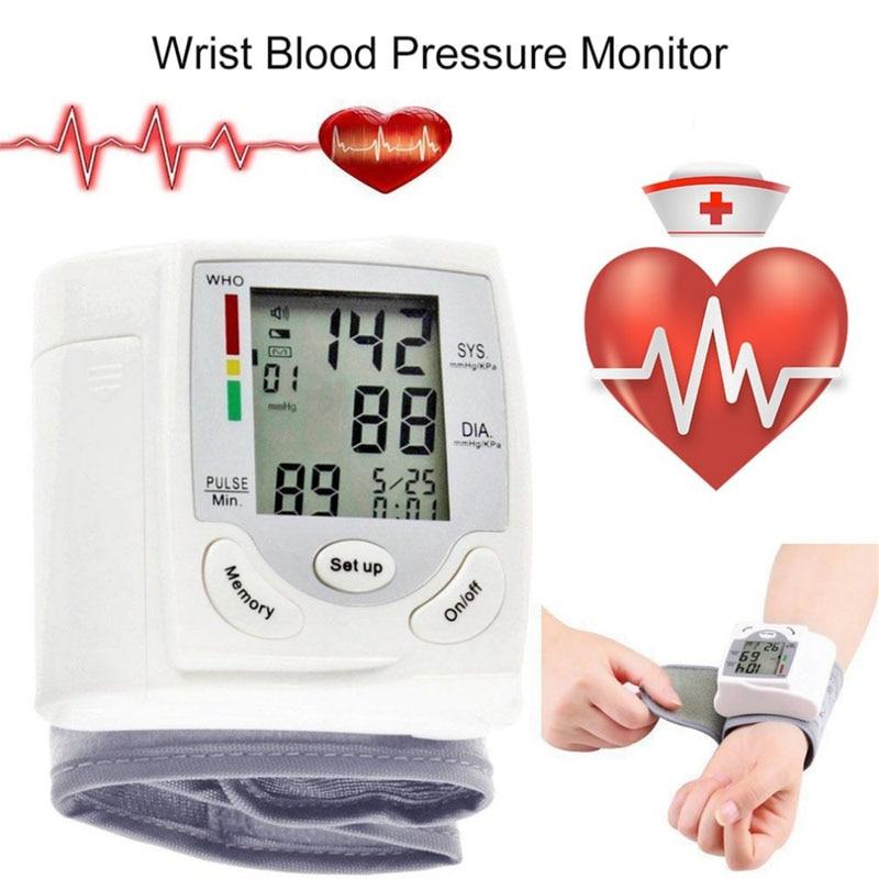 Умная Автоматическая цифровая манжета на запястье, прибор для измерения артериального давления, прибор для измерения пульса, сфигмоманометр, прибор для измерения пульса