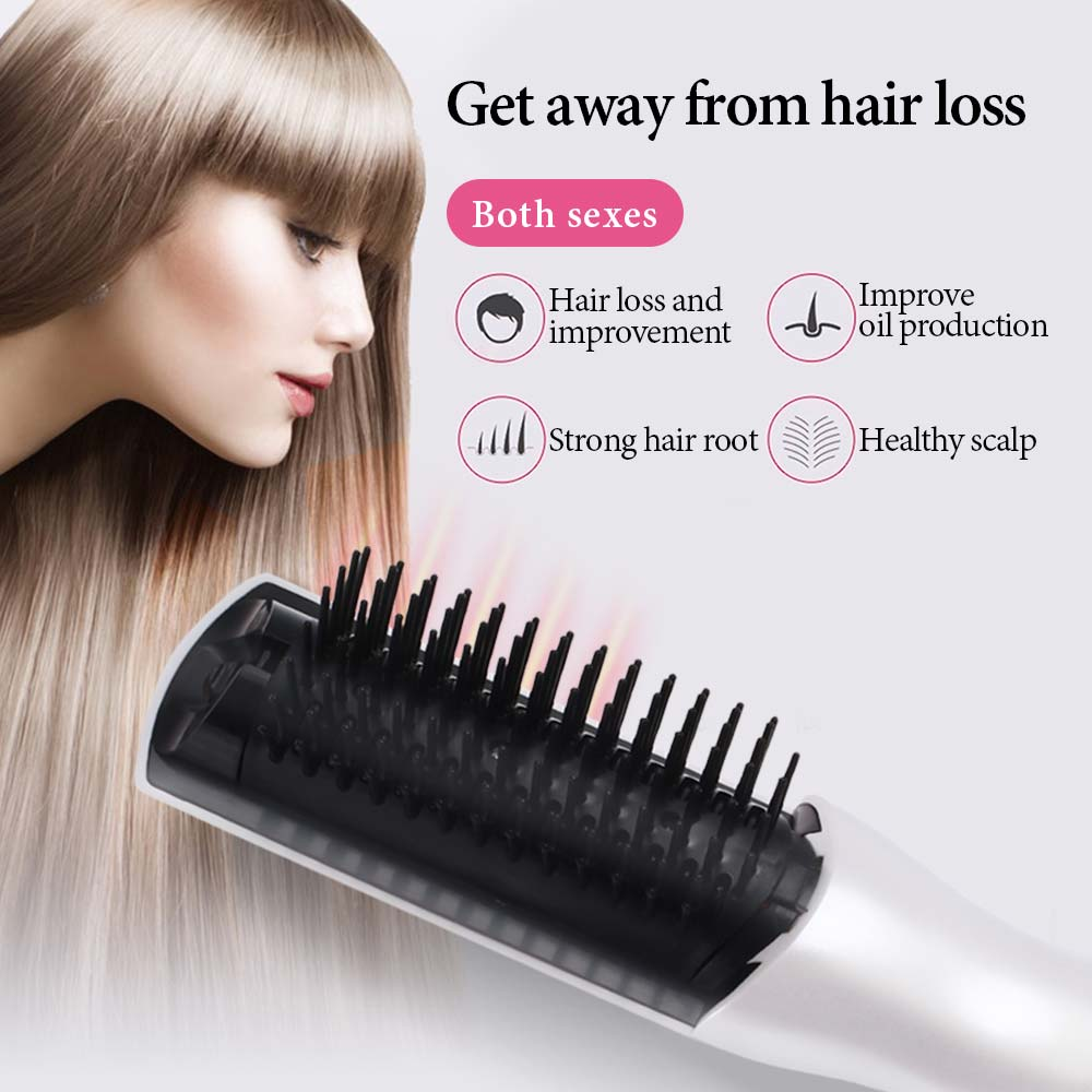2 In 1 Electric Infrared Laser Hair Growth Comb Massage Equipment Hair Growth Care Treatment Hair Brush Anti Hair Loss Therapy