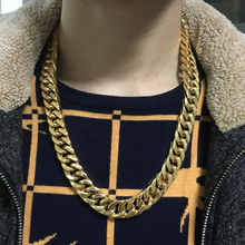 Necklaces For Men Miami Cuban Link Gold Chain Hip Hop Jewelry Long Chains 15mm Thick Stainless Steel Big Chunky Necklace Gift