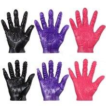 Female Masturbator Sex Glove Magic Palm Hand Breast Nipple Vagina Massage Couple Adult Games Flirting Toy30