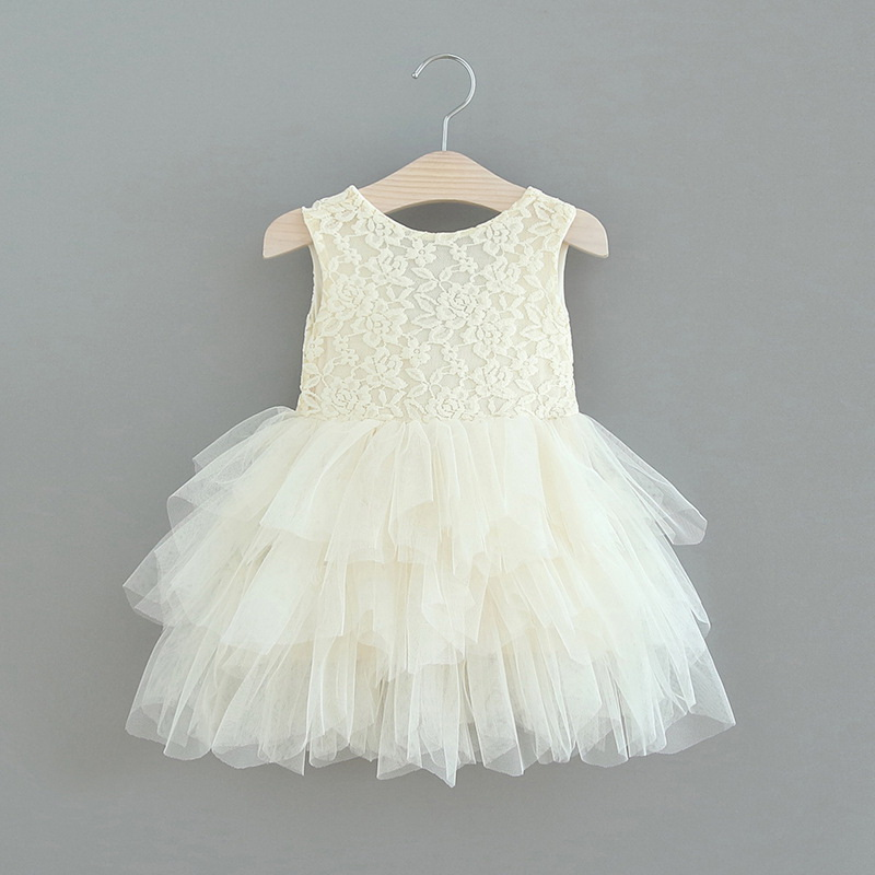 119-3-Lace Tulle Girls Dress