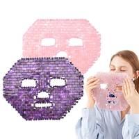 Розовая кварцевая Нефритовая маска для лица холодная терапия натуральная маска для лица аметист нефрит спальные маски для лица охлаждающи...