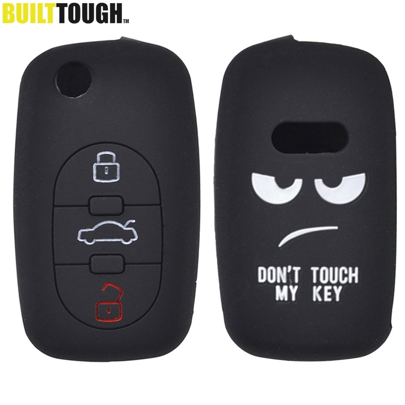 Shell-Cover Sleeve Remote-Key-Case Allroad Audi Silicone Skin-Jacket TT for A2 A3 S3 title=