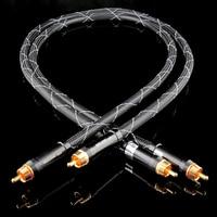 OCC single crystal pure copper audio line signal line gold plated RCA lotus plug