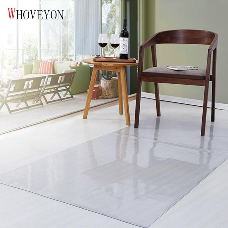 WHONEYON Living Room Wood Floor Protection Mat Bathroom Kitchen Waterproof Non-slip Carpet Plastic Mat PVC Transparent Door Mat