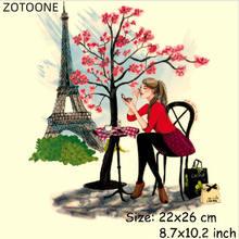 Модные термоклейкие нашивки zotoone для девочек в стиле Парижа