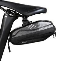 Alforje bicicleta Reflexivo Segurança Traseiro Cauda Bolsa Pacote Capa Ciclismo Sacos De Armazenamento Sob O Assento Traseiro À Prova D' Água Acessórios Da Bicicleta