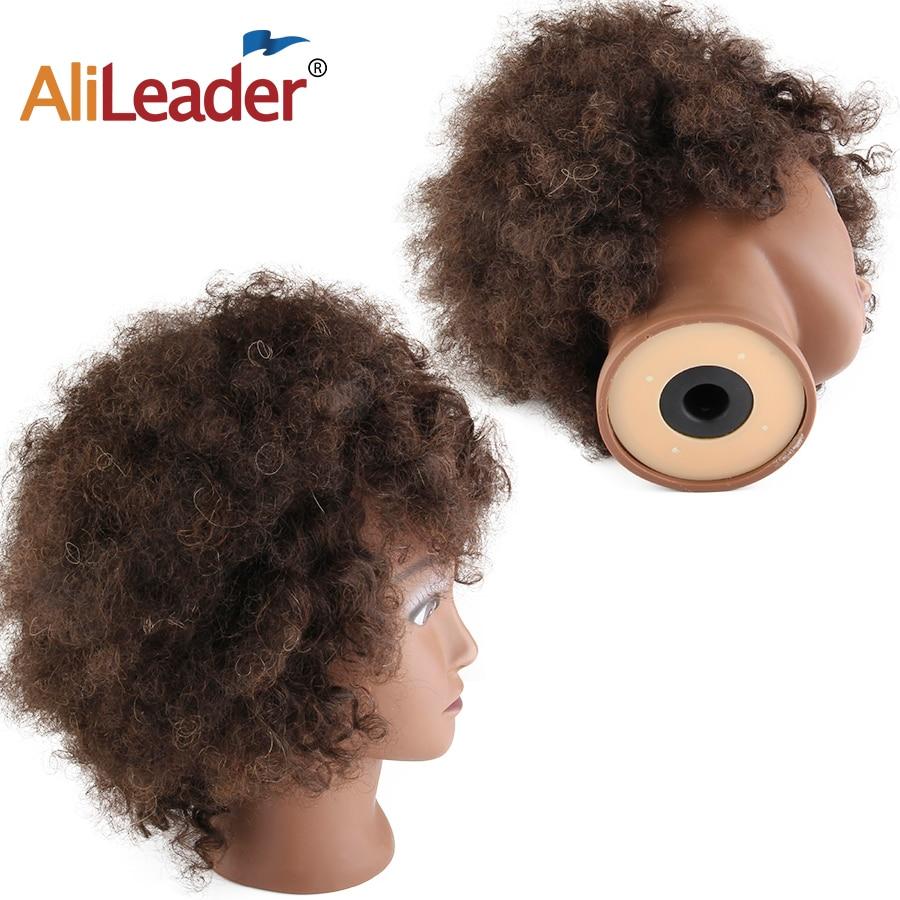 Африканская тренировочная головка для парикмахерских, салонная силиконовая головка для практики манекена, короткая афро курчавая кудрява...