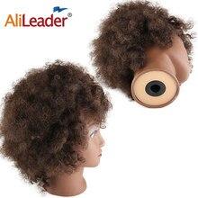 Afrikanische Ausbildung Kopf für Friseure Salon Silikon Praxis Mannequin Köpfe Kurze Afro Verworrenes Lockiges Haar Ausbildung Kopf