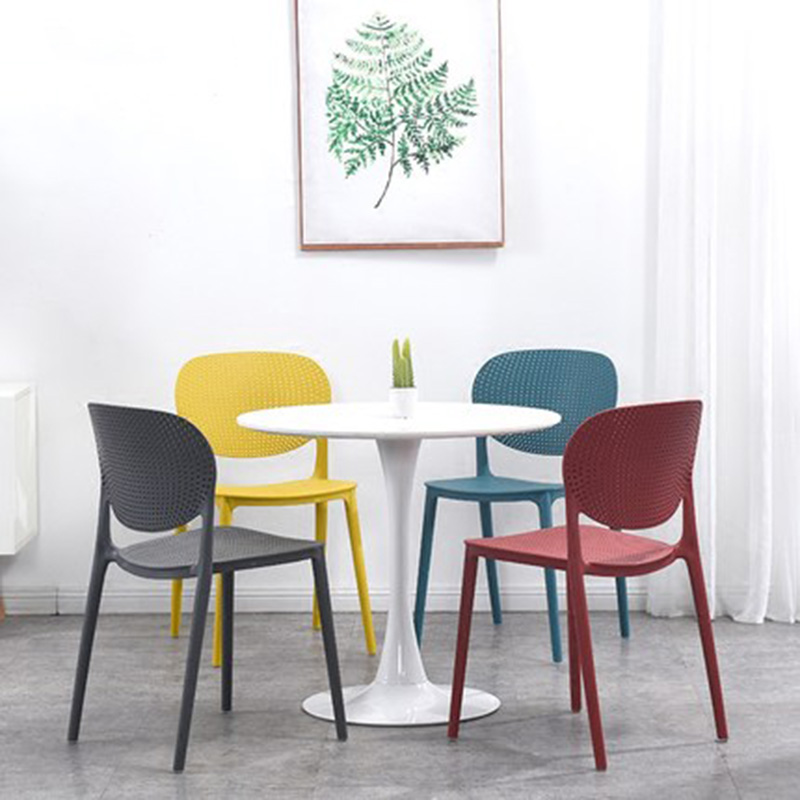 Postmodern Plastic Chair Restaurant Dining Chair Bedroom Business Office Home Living Room Kitchen Plastic Bar Cafe Dining Chair