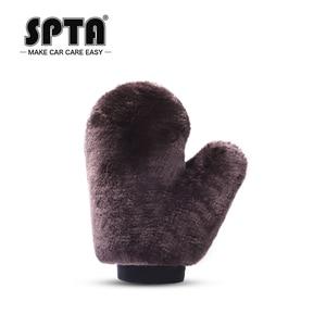 Image 2 - SPTA – gants de lavage de voiture, outil de nettoyage automobile, brosse de nettoyage multifonction, Super propre, en laine