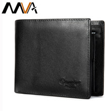 Mva masculino carteira de couro genuíno masculino bolsa bifold masculino carteiras curtas com bolsos de moeda bolsas de couro para homens gravura carteiras