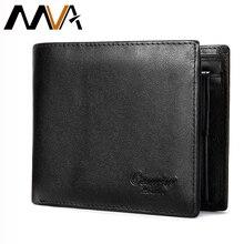 MVA männer Echte Leder Brieftasche Männlichen Geldbörse Bifold Mens Short Brieftaschen Mit Münzfach Taschen Leder Geldbörsen Für Männer Gravur brieftaschen
