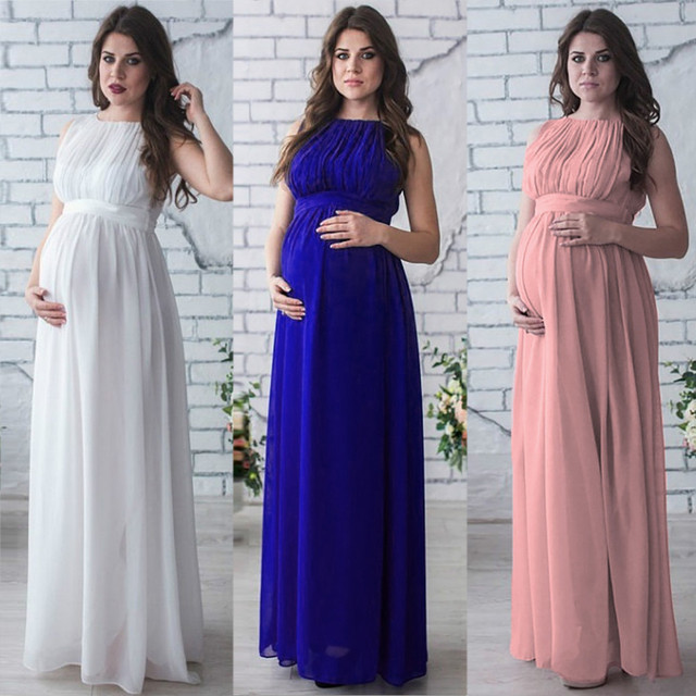 Casual Summer Maternity Dresses in Boho Style 1
