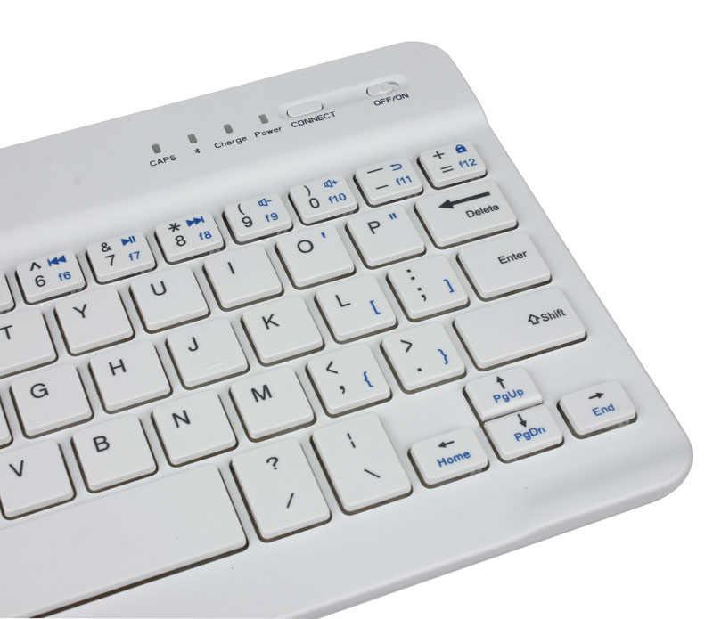 Mini Keyboard Nirkabel Bluetooth Keyboard untuk iPad Ponsel Tablet Karet Tombol Rechargeable Keyboard untuk Android IOS Windows G5