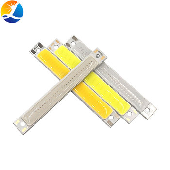 60x8mm 2V 3V LED Bulb COB Strip 3.7V Chip On Board 60MM Warm Cold White Blue Red Color 1W 3W LED Lighting for COB Work Lamps DIY image