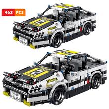 Mechaniczne wycofanie sportowe samochodowe klocki budowlane miasto inżynier Model pojazdu Technic wyścigi klocki zabawki dla dzieci prezenty dla chłopców tanie tanio CN (pochodzenie) Unisex 6 lat Mały budynek blok (kompatybilne z Lego) ky1027 Do not eat Z tworzywa sztucznego AE86 462pcs