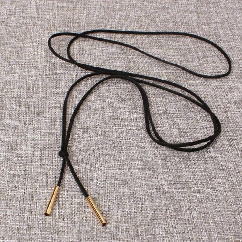 Moda czarny skórzany naszyjnik typu choker naszyjnik dla kobiet długi kutas złoty kolorowy wisiorek naszyjnik w stylu Punk biżuteria hurtowych