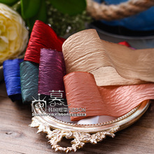 100yards 25mm 40mm wrinkle satin ribbon for garment apparel accessories hair bow diy accessorie bouquet flower packing
