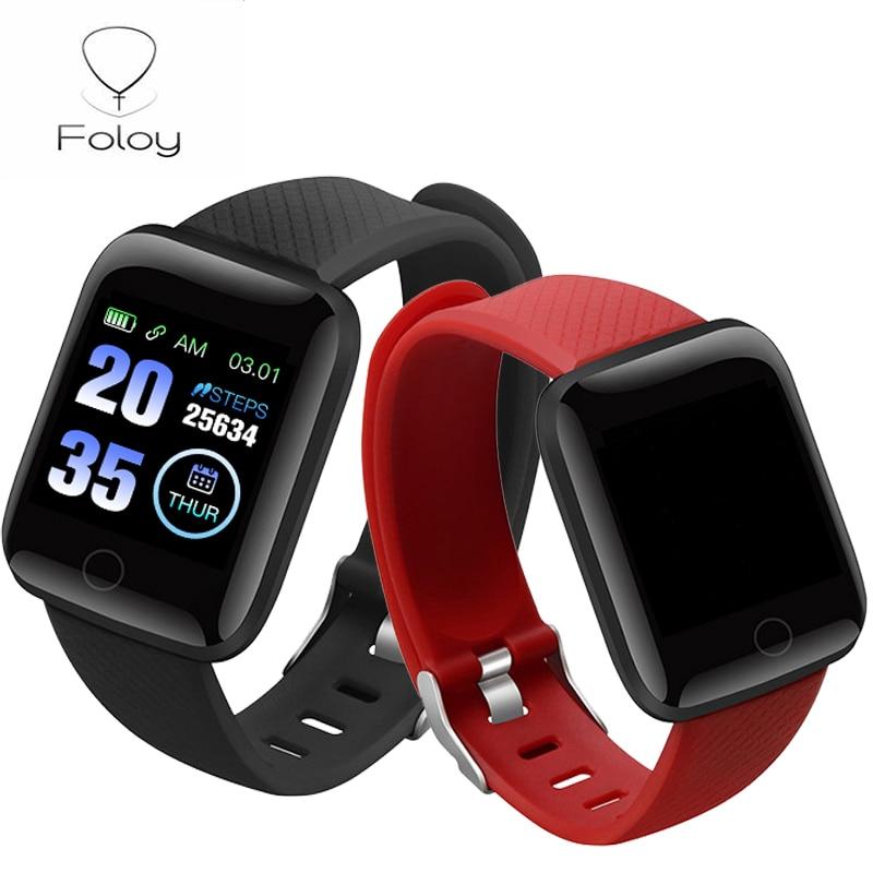 Foloy Watch Digital 116plus Waterproof IP67 Men's Screen-Blood Pressure-Sleep Female