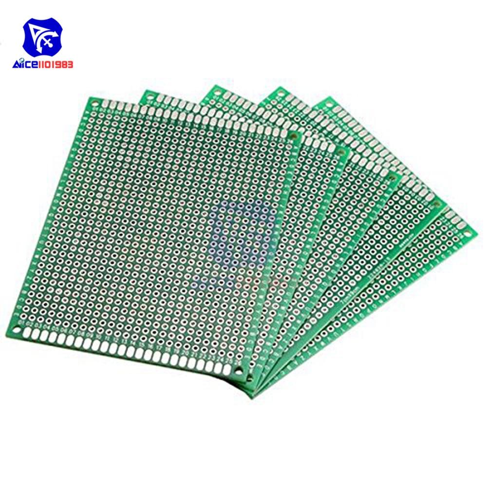 1 pcs 8X12cm Double Side Prototype PCB Breadboard Universal Circuit 2.54mm