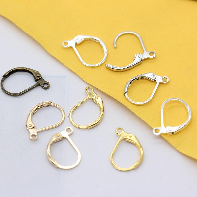Gold Plated Leverback Jewllery Making Earring Hooks DIY