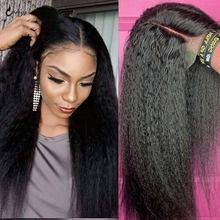 5x5 fechamento do laço peruca reta kinky frente do laço perucas de cabelo humano pré arrancadas yaki peruca de cabelo humano brasileiro remy peruca dianteira do laço