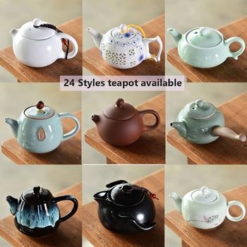 Vintage Zisha Xishi Tea Pot Household Goyao Kung Fu Teapot With Filter Ceramic Tea Cup Set for Puer Black Green Tea tangpin purple clay tea pets monkey cute zisha teapets kung fu tea accessories