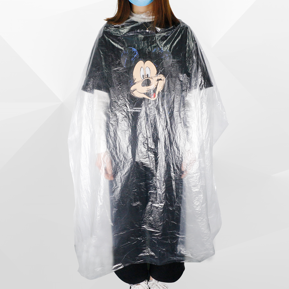 50/100 Pcs Disposable Hairdressing Capes Cutting Hair Dying PE Waterproof Apron Barber Hair Cape Transparent Hairdressing Cloth