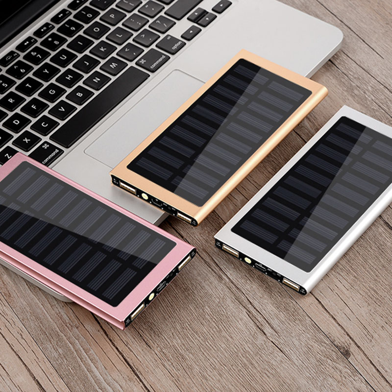 Hot Sale Solar 10000mah Power Bank External Battery 2 USB LED Powerbank Portable Mobile Phone Solar Charger|Power Bank| |  - title=
