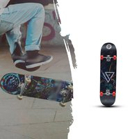 Two Bare Feet Double Kick Complete Skateboard Cruiser for Teens Beginners Kids Colorful Skating Proffesiona