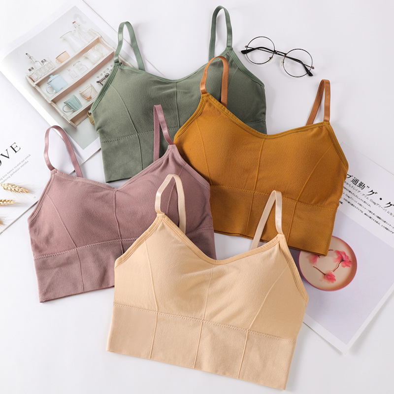 Fashion Seamless Bras With Chest Pad Ladies Wrapped Chest Women Bottom Tube Top