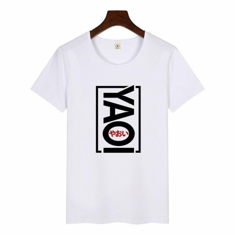 Women's Funny Yaoi Print T Shirt Anime Manga Clothing Hop Tees Casual Streetwear T-shirt Girls Short Sleeves Harajuku Top Tshirt