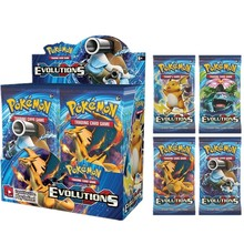 BF 360Pcs Pokemon Cards Xy Evolutions 36 Bags In a Box for Boys Toys Sealed Booster Box Collection Trading Card Game Toys Gifts